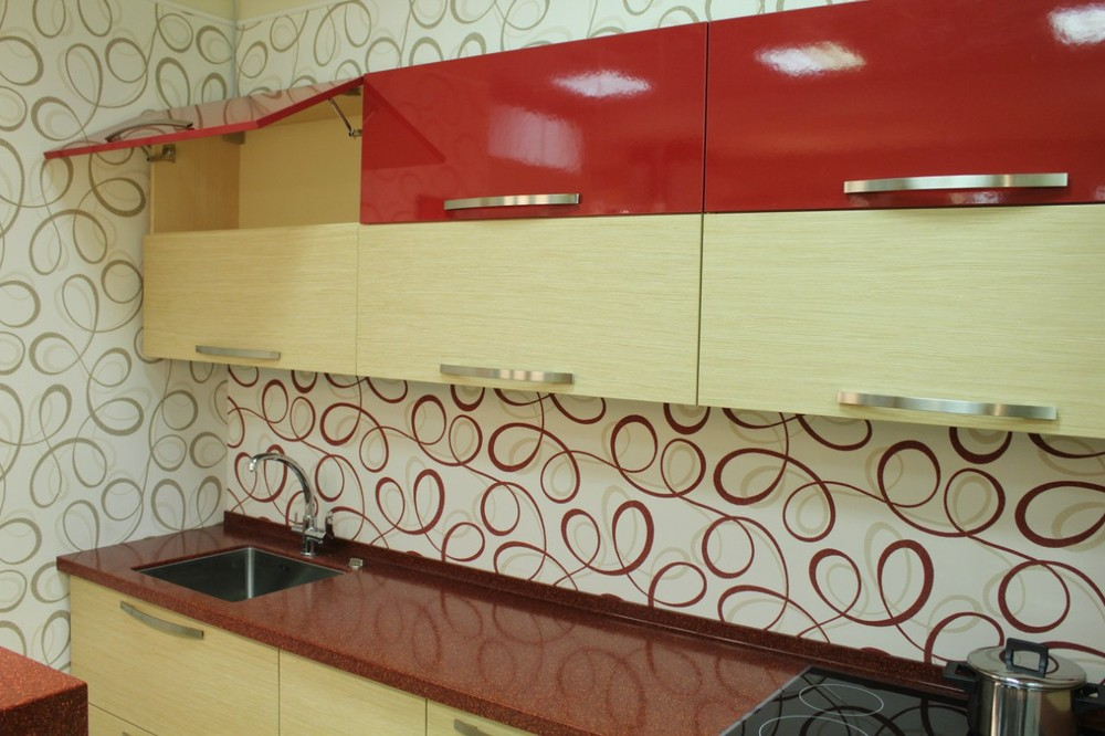 Акриловые кухни-Кухня из пластика «Модель 129»-фото12