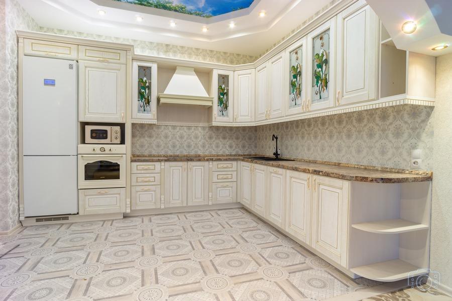 Бежевые кухни-Кухня из шпона «Модель 8»-фото2