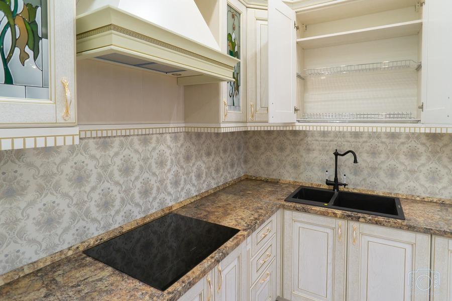 Бежевые кухни-Кухня из шпона «Модель 8»-фото6