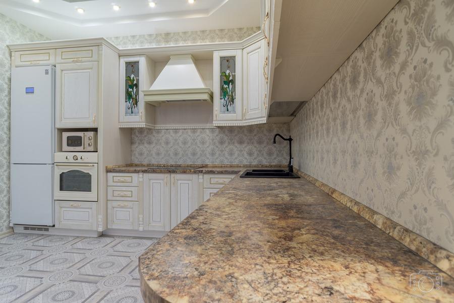Бежевые кухни-Кухня из шпона «Модель 8»-фото5
