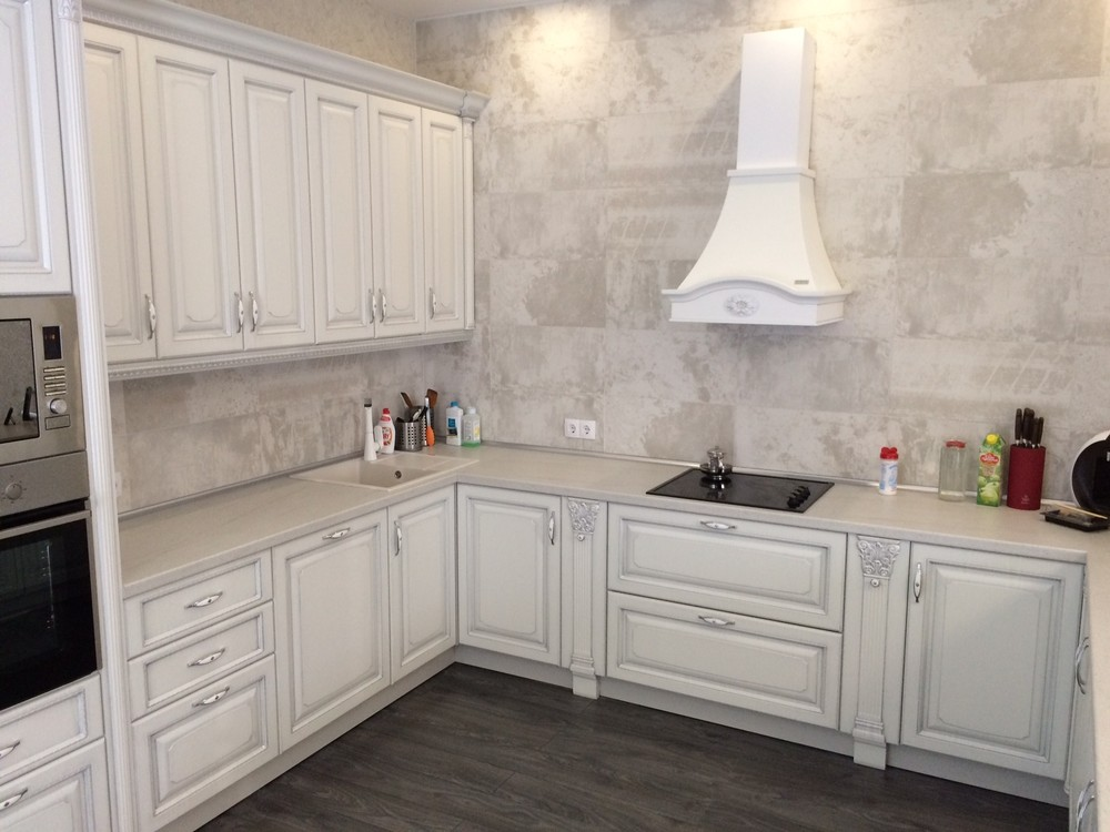 Белый кухонный гарнитур-Кухня из массива «Модель 109»-фото2