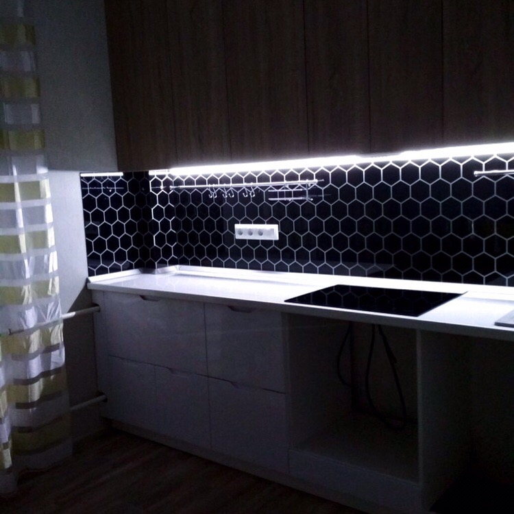 Белый кухонный гарнитур-Кухня МДФ в эмали «Модель 421»-фото3