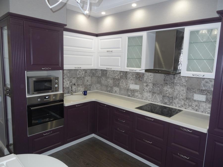 Классические кухни-Кухня МДФ в ПВХ «Модель 518»-фото1