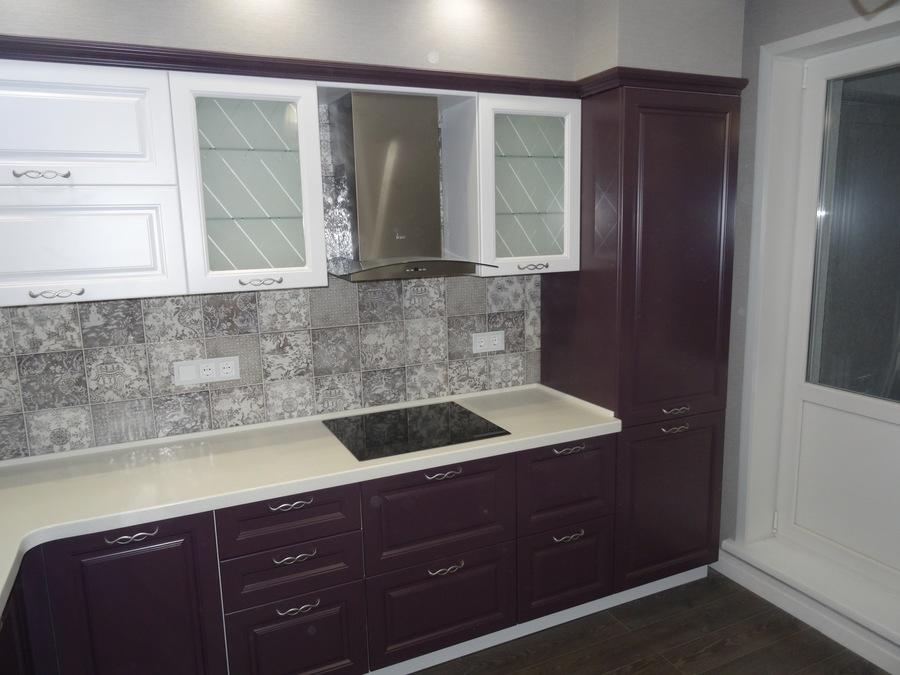 Классические кухни-Кухня МДФ в ПВХ «Модель 518»-фото4