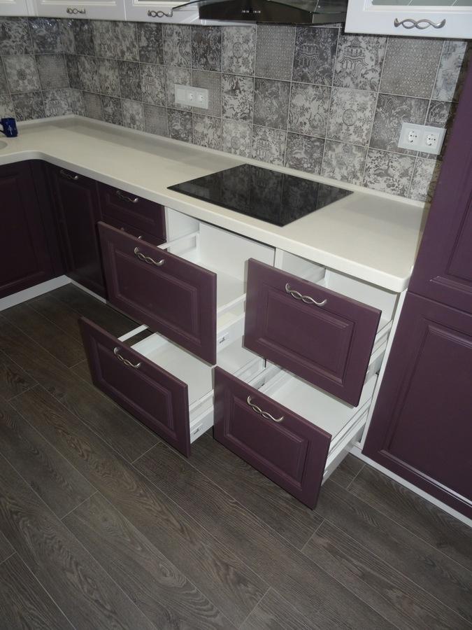 Классические кухни-Кухня МДФ в ПВХ «Модель 518»-фото7
