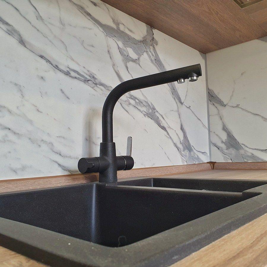 Белый кухонный гарнитур-Кухня МДФ в эмали «Модель 554»-фото7