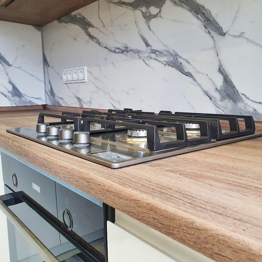 Белый кухонный гарнитур-Кухня МДФ в эмали «Модель 554»-фото6