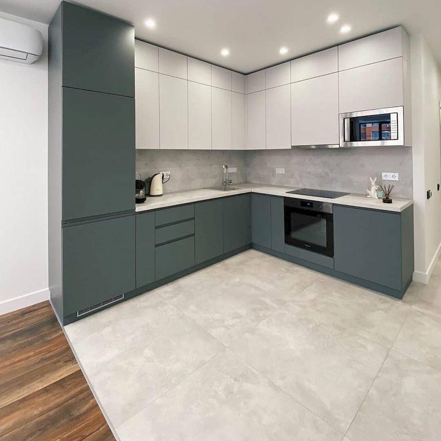 Белый кухонный гарнитур-Кухня МДФ в эмали «Модель 679»-фото1