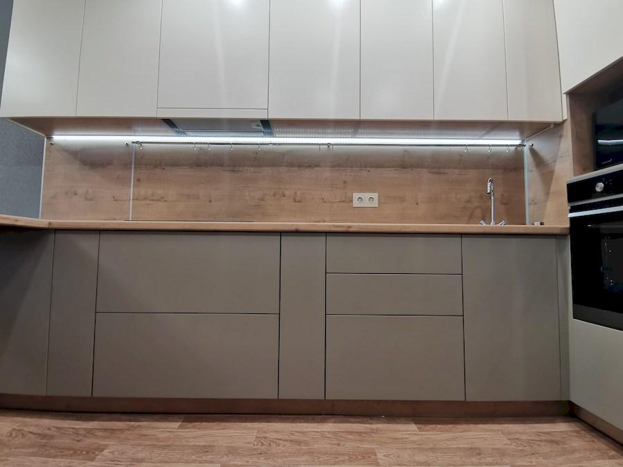 Белый кухонный гарнитур-Кухня МДФ в ПВХ «Модель 578»-фото4