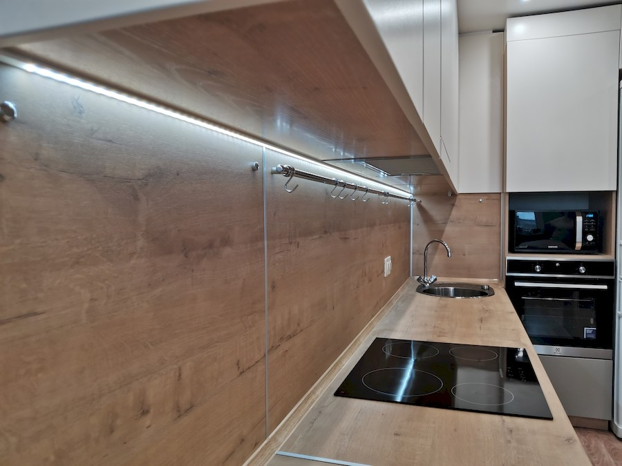 Белый кухонный гарнитур-Кухня МДФ в ПВХ «Модель 578»-фото5