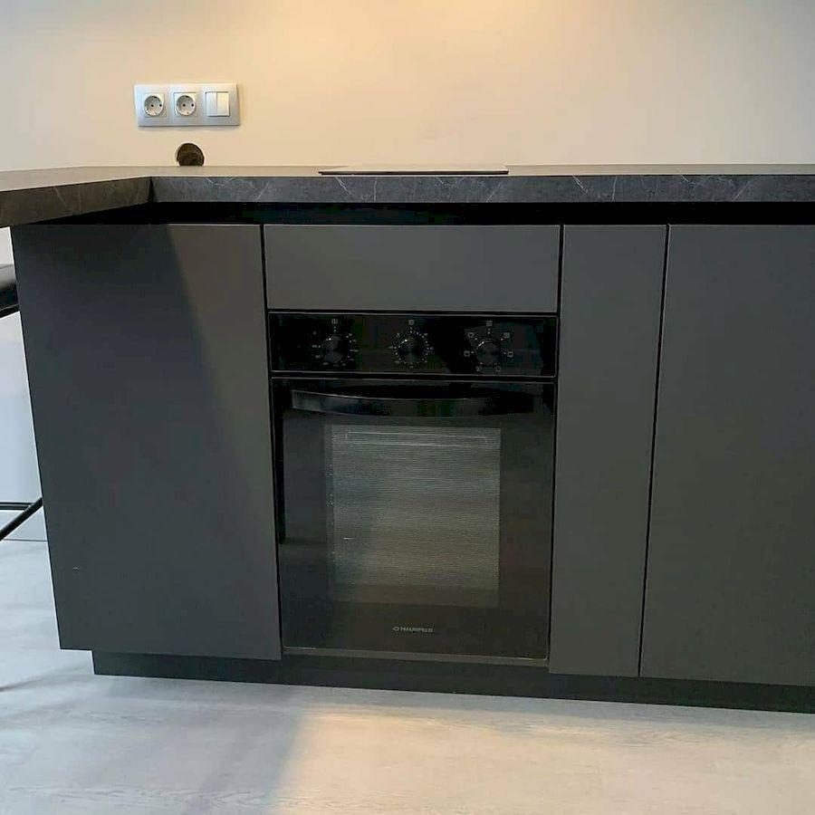 Высокие кухни под потолок-Кухня МДФ в ПВХ «Модель 677»-фото4