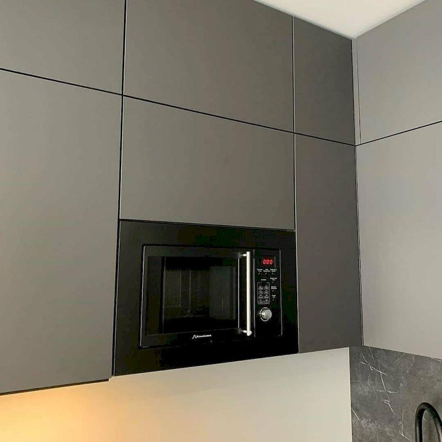 Высокие кухни под потолок-Кухня МДФ в ПВХ «Модель 677»-фото5
