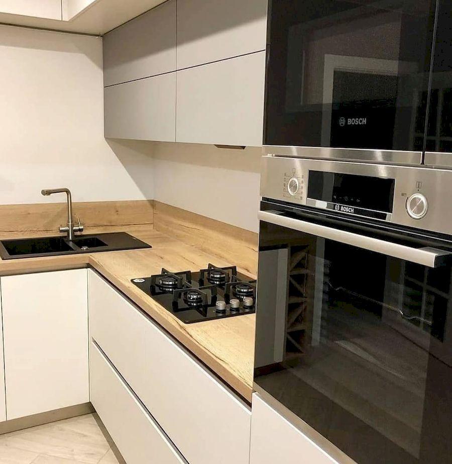 Белый кухонный гарнитур-Кухня МДФ в ПВХ «Модель 666»-фото3