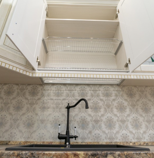 Бежевые кухни-Кухня из шпона «Модель 8»-фото11