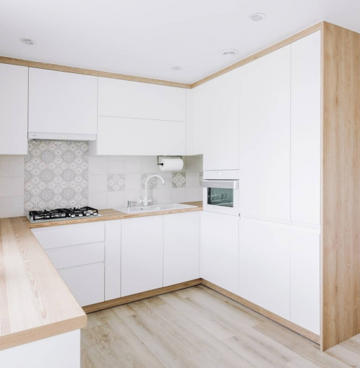 Встроенная кухня-Кухня МДФ в эмали «Модель 614»-фото5