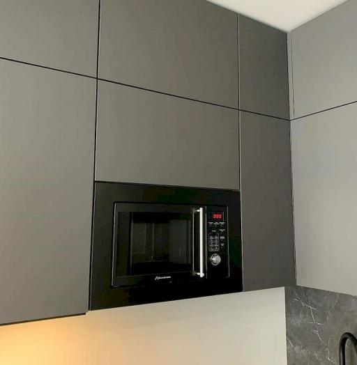Высокие кухни под потолок-Кухня МДФ в ПВХ «Модель 677»-фото6